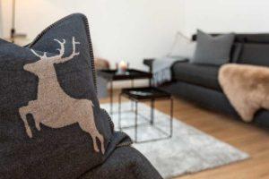 Wohnzimmer, Kissen, Hirsch
